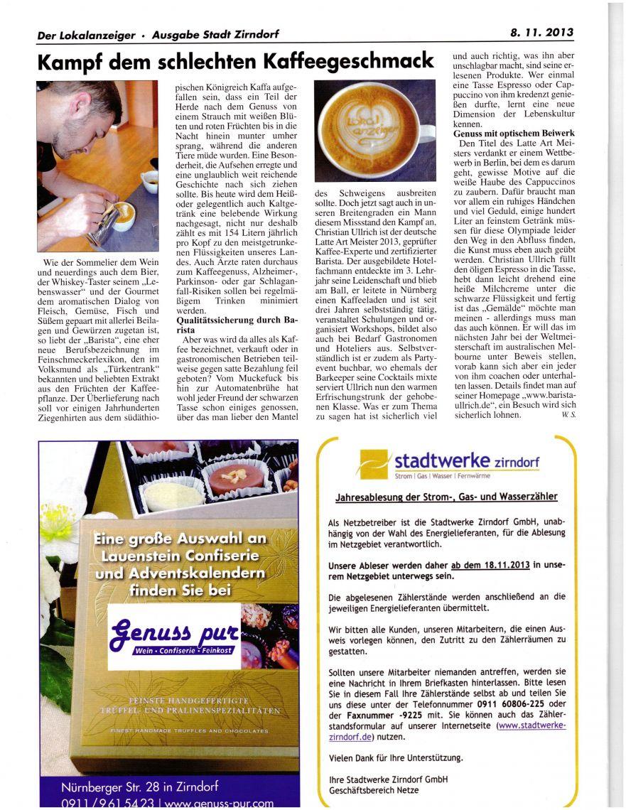 Der Lokalanzeiger Ausgabe Stadt Zirndorf (November 2013)